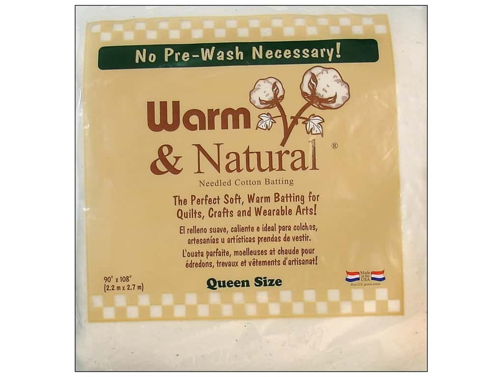 The Warm Company Warm & Natural Cotton Batting Queen 90 x 108 in.