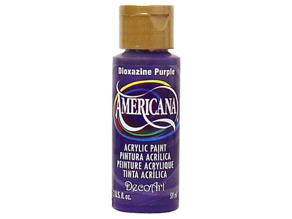 DecoArt Americana Acrylic Paint 2 oz. #101 Dioxazine Purple