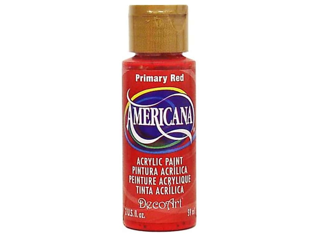 DecoArt Americana Acrylic Paint 2 oz. #199 Primary Red