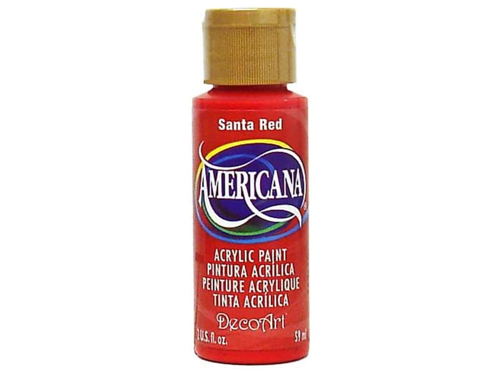 DecoArt Americana Acrylic Paint 2 oz. #170 Santa Red