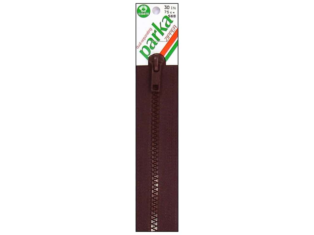 Parka Dual-Separating Zipper by Coats & Clark 30 in. Cloister Brown