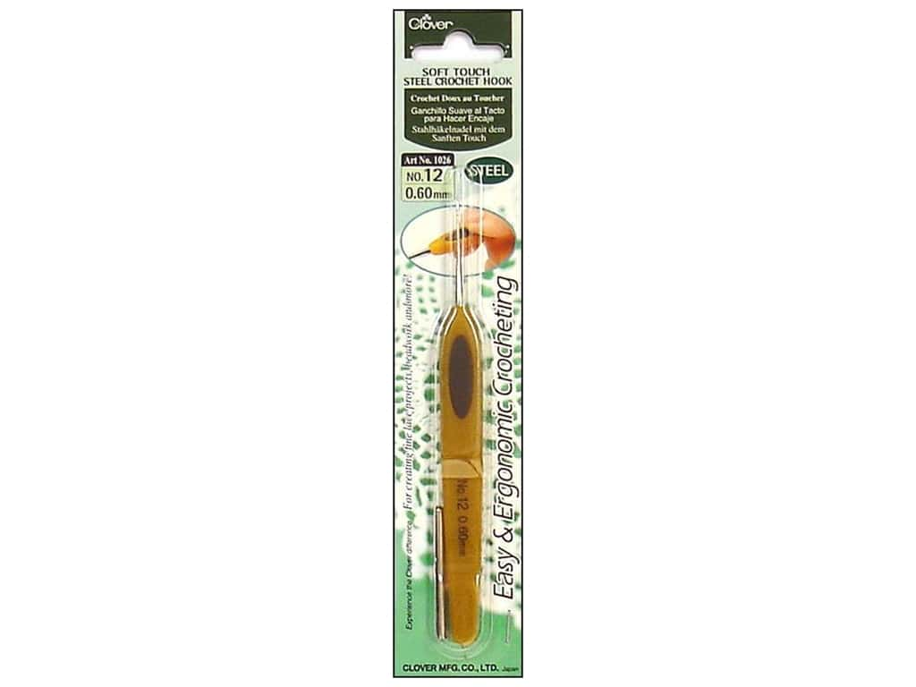 Clover Soft Touch Steel Crochet Hook Size 12 (0.60 mm)