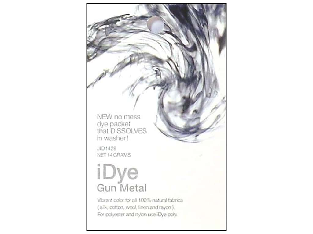 Jacquard iDye for Natural Fabrics Gun Metal