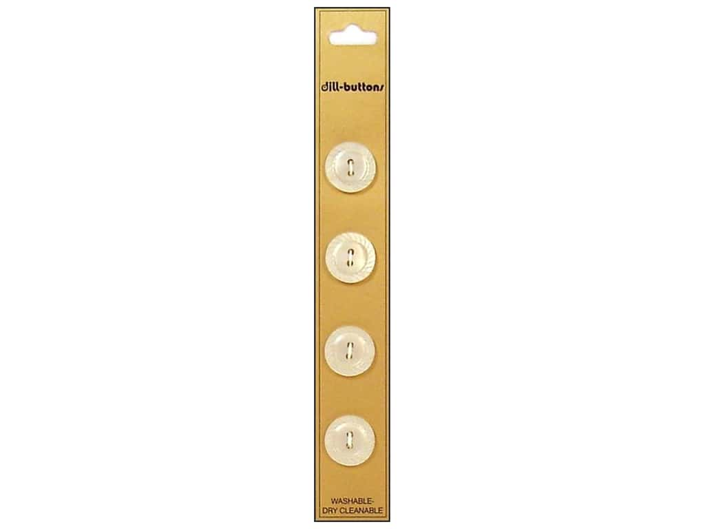 Dill 2 Hole Buttons 5/8 in. White 4 pc.