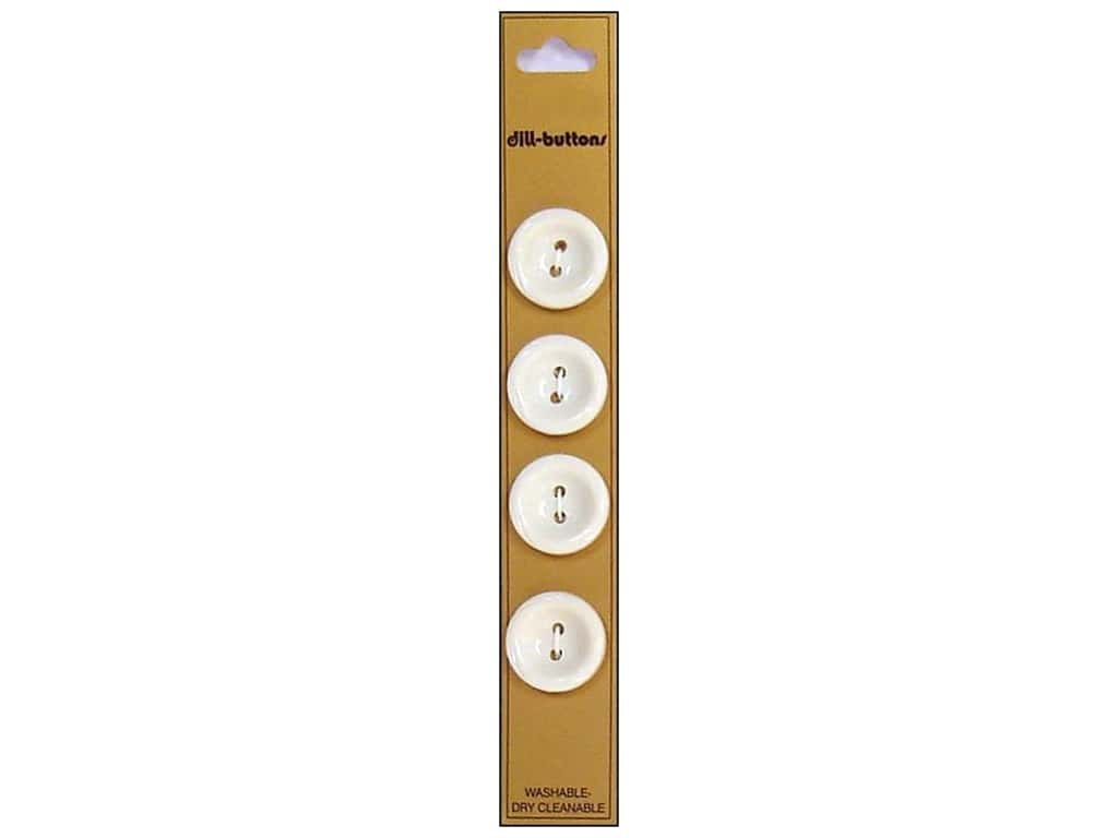 Dill 2 Hole Buttons 3/4 in. White 4 pc.