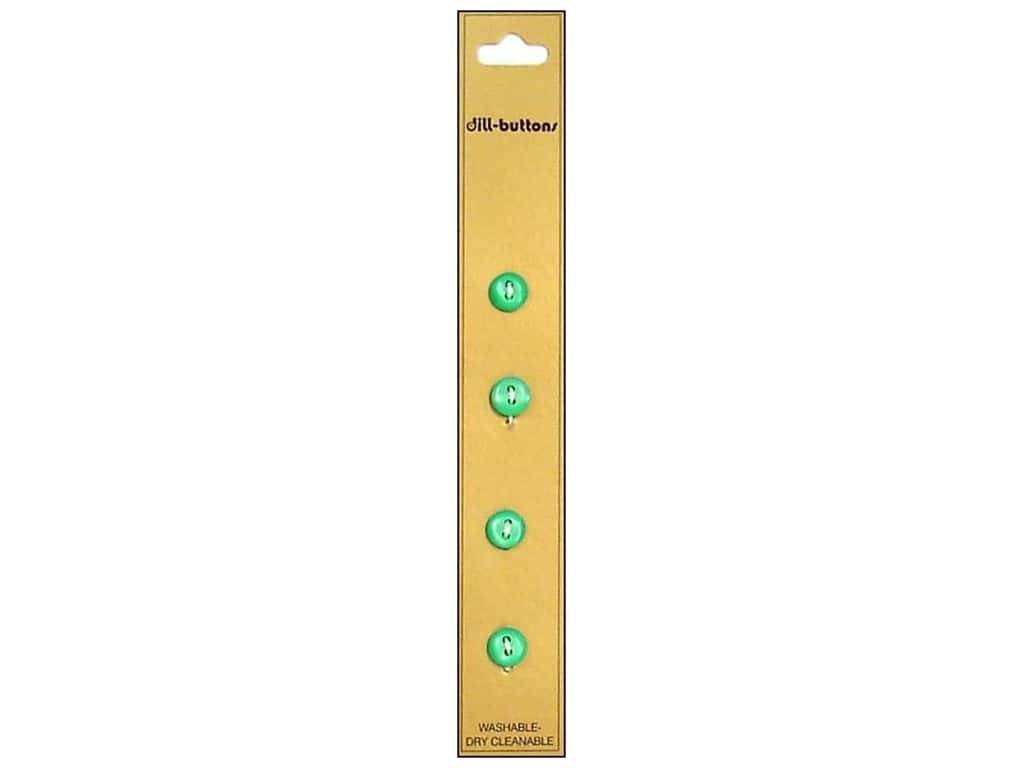 Dill 2 Hole Buttons 5/16 in. Light Green 4 pc.