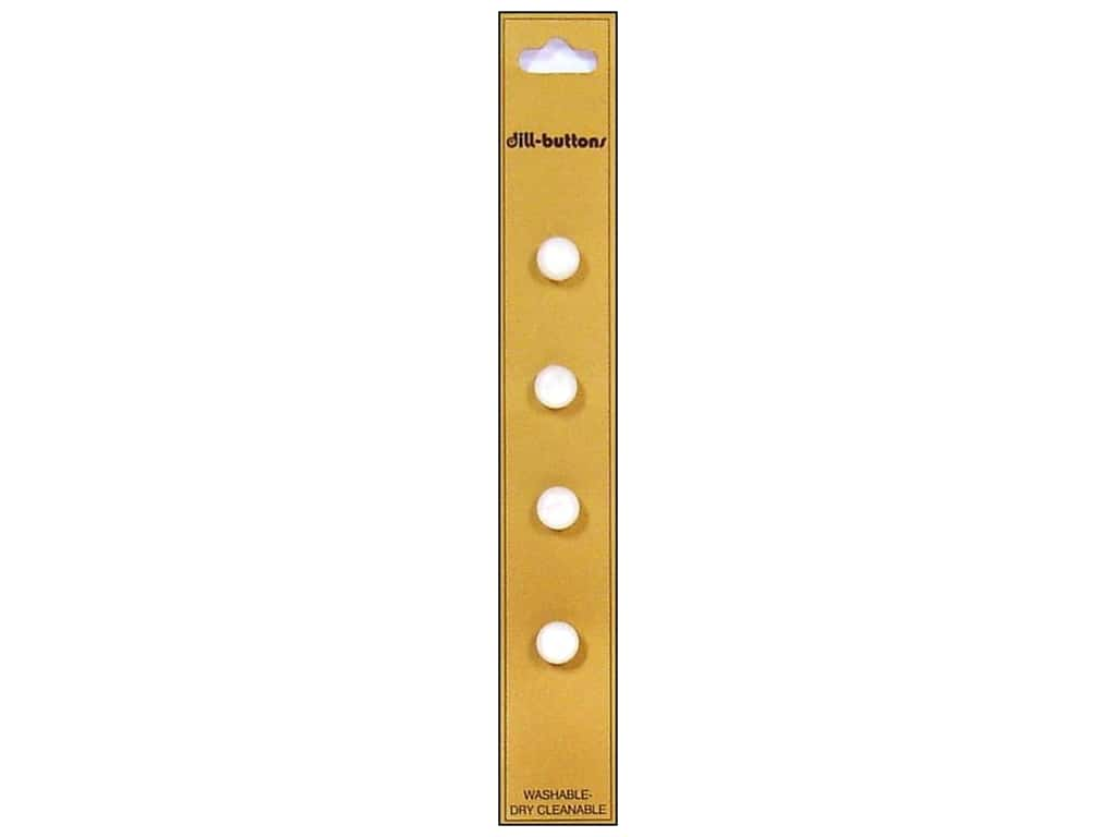 Dill Shank Buttons 5/16 in. White 4 pc.