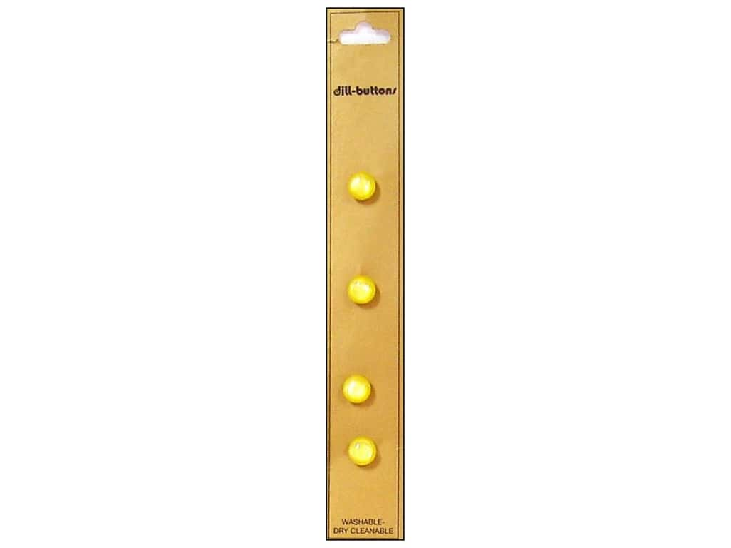 Dill Shank Buttons 5/16 in. Yellow 4 pc.