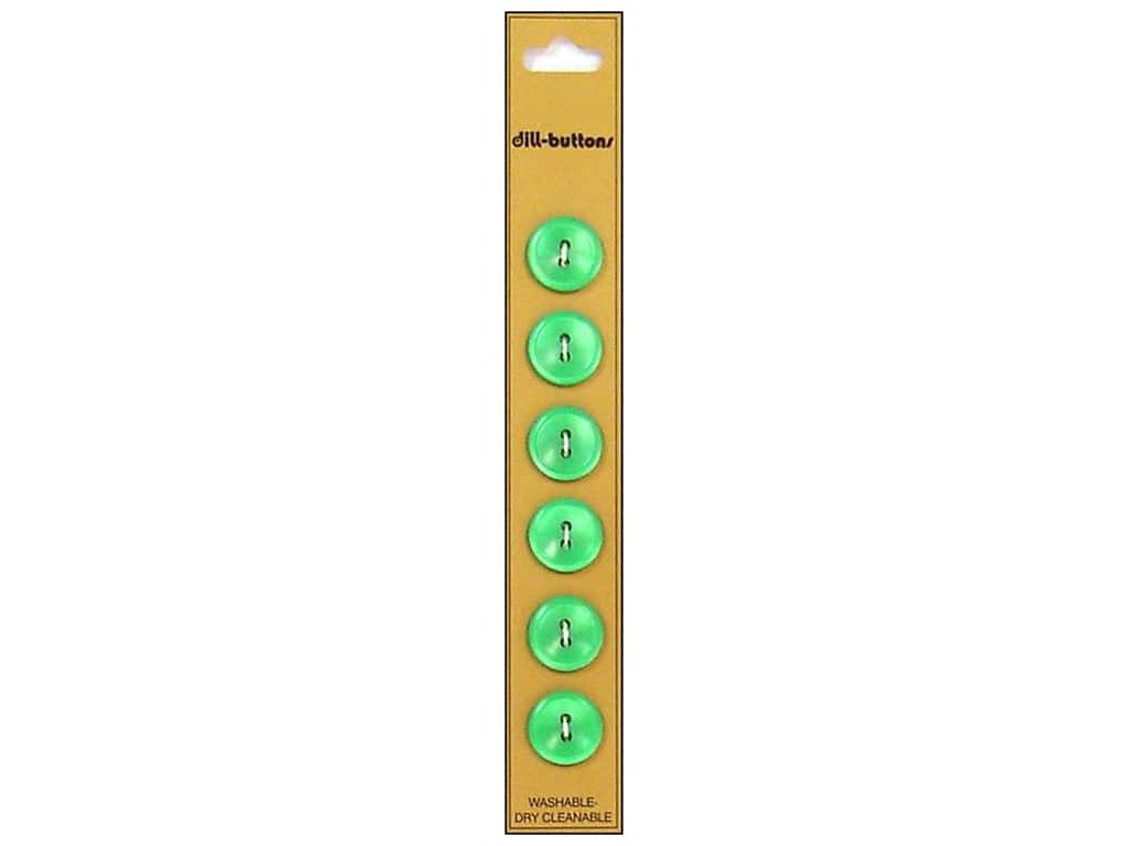 Dill 2 Hole Buttons 9/16 in. Green 6 pc.