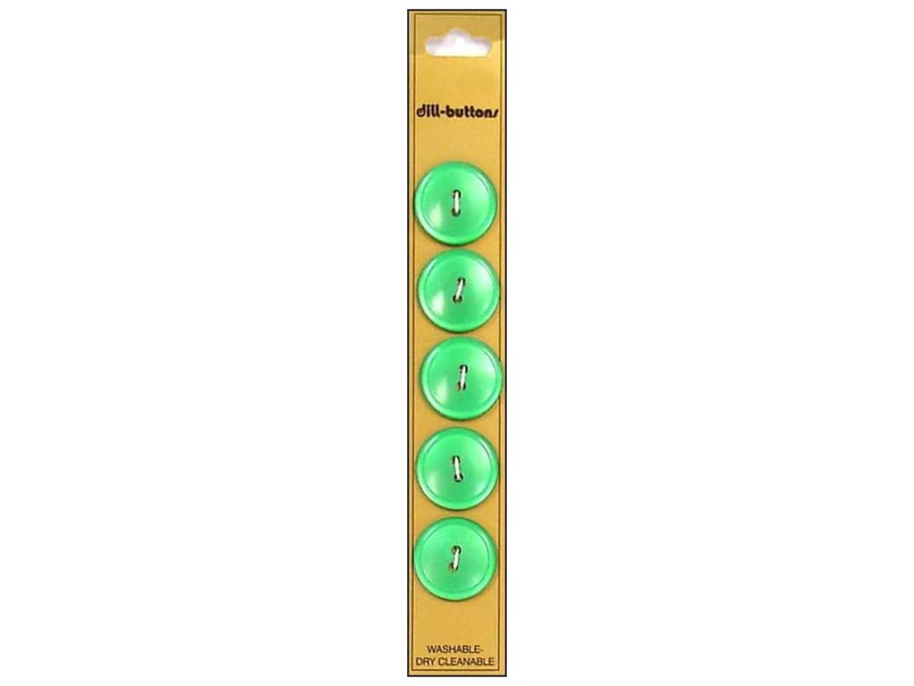 Dill 2 Hole Buttons 3/4 in. Green 5 pc.