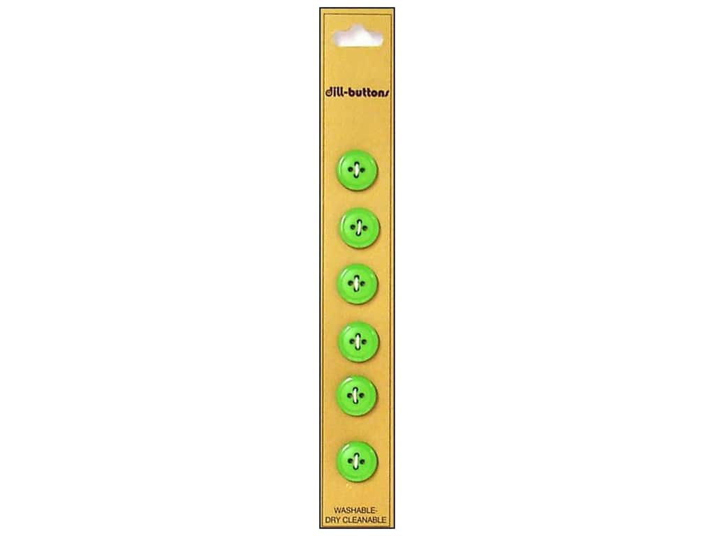 Dill 4 Hole Buttons 1/2 in. Light Green 6 pc.