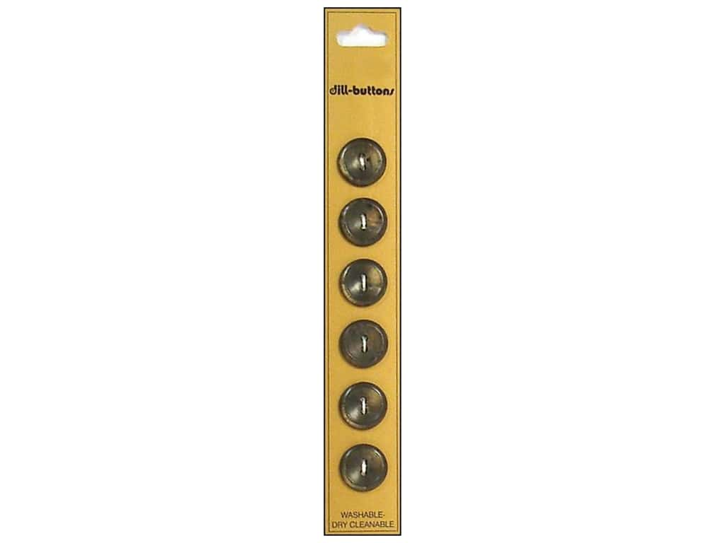 Dill 2 Hole Buttons 9/16 in. Brown 6pc