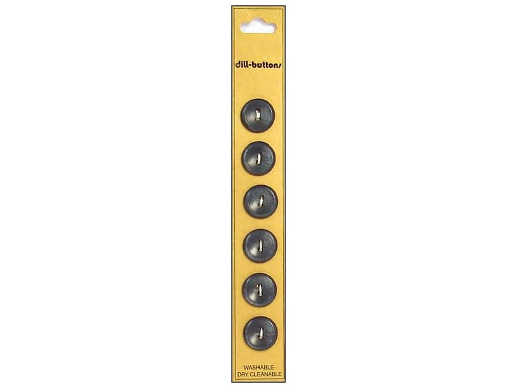 Dill 2 Hole Buttons 9/16 in. Grey 6 pc