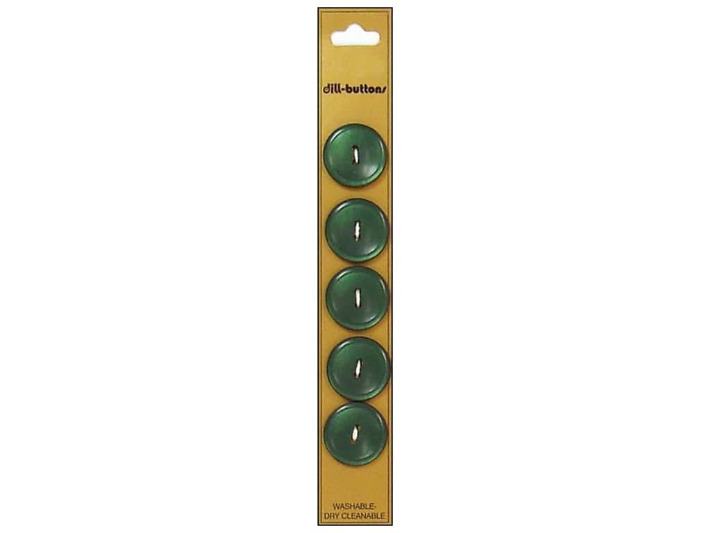 Dill 2 Hole Buttons 3/4 in. Olive Green 5 pc