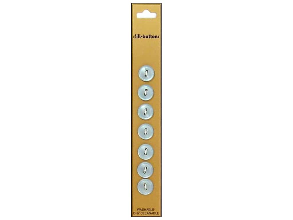 Dill 2 Hole Buttons 7/16 in. Light Blue 7 pc