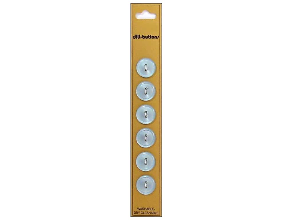 Dill 2 Hole Buttons 9/16 in. Light Blue 6 pc