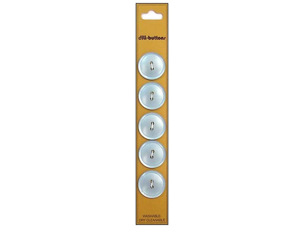 Dill 2 Hole Buttons 3/4 in. Light Blue 5 pc