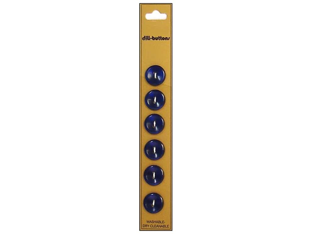 Dill 2 Hole Buttons 9/16 in. Royal Blue 6 pc