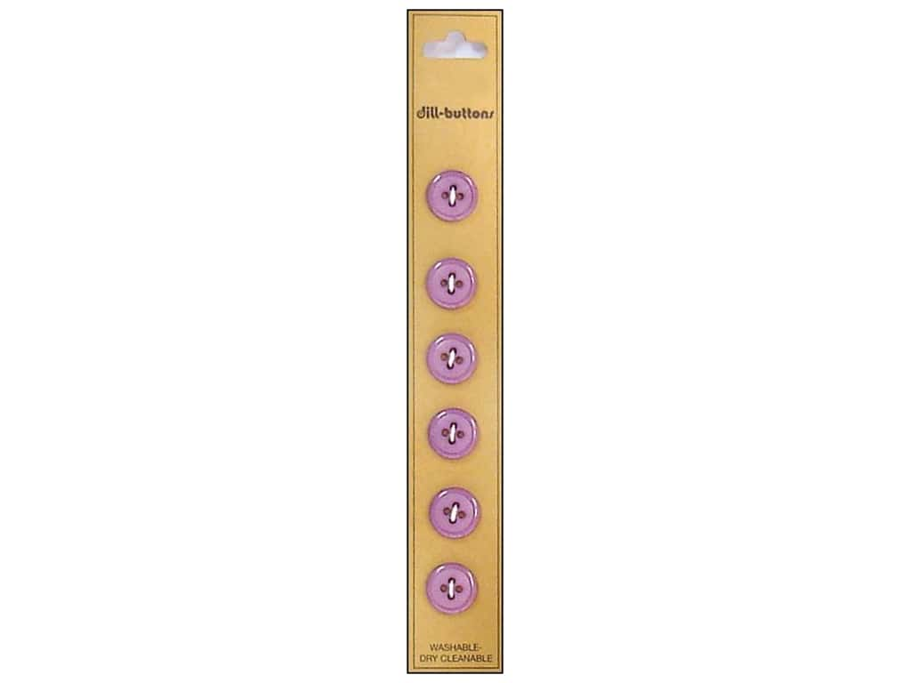 Dill 4 Hole Buttons 7/16 in. Lilac 6pc