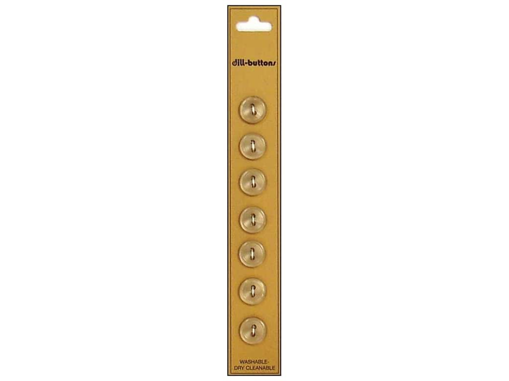 Dill 2 Hole Buttons 7/16 in. Tan 7 pc