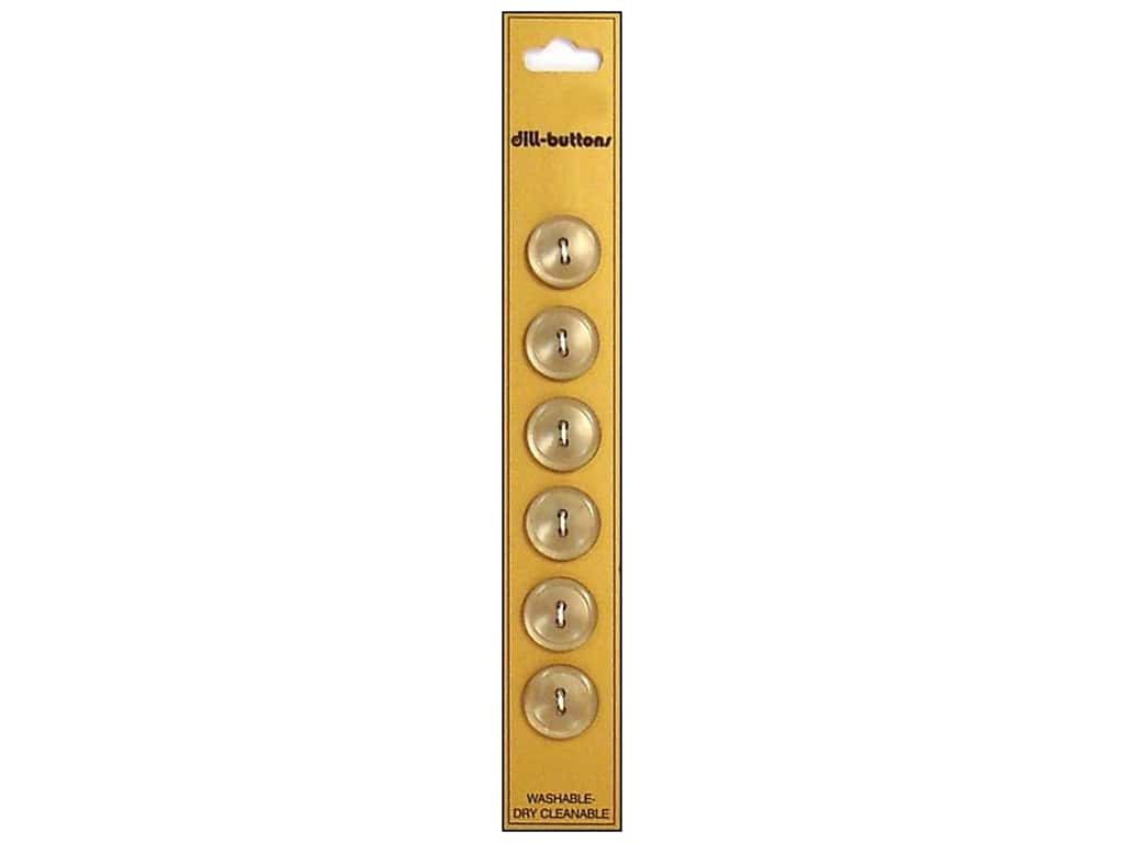 Dill 2 Hole Buttons 9/16 in. Tan 6 pc