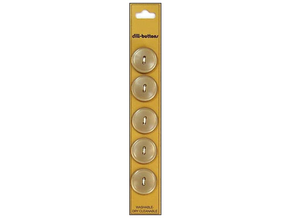 Dill 2 Hole Buttons 3/4 in. Tan 5pc
