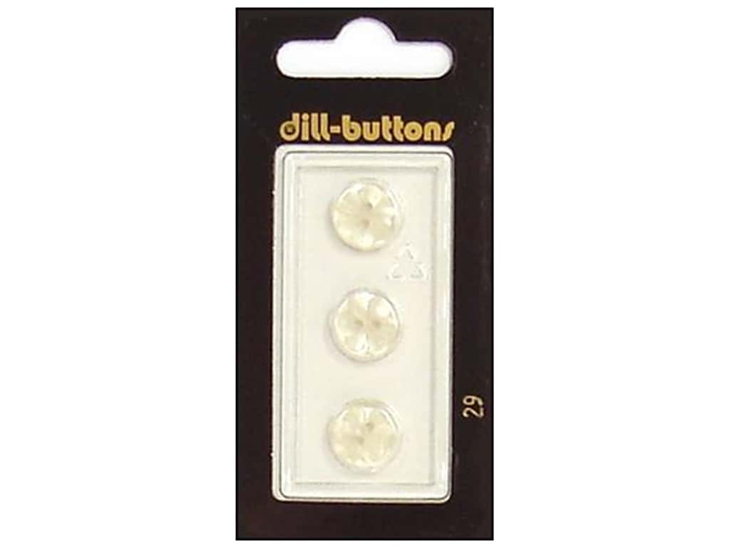 Dill 2 Hole Buttons 7/16 in. White #29 3 pc.