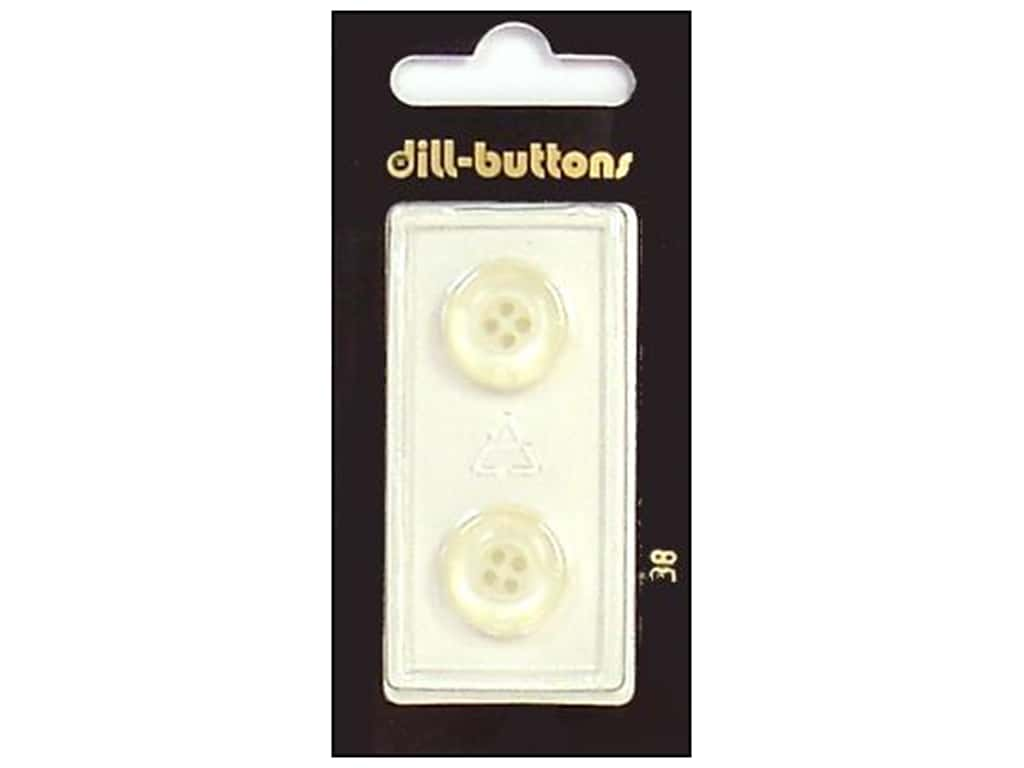 Dill 4 Hole Buttons 5/8 in. White #38 2 pc.