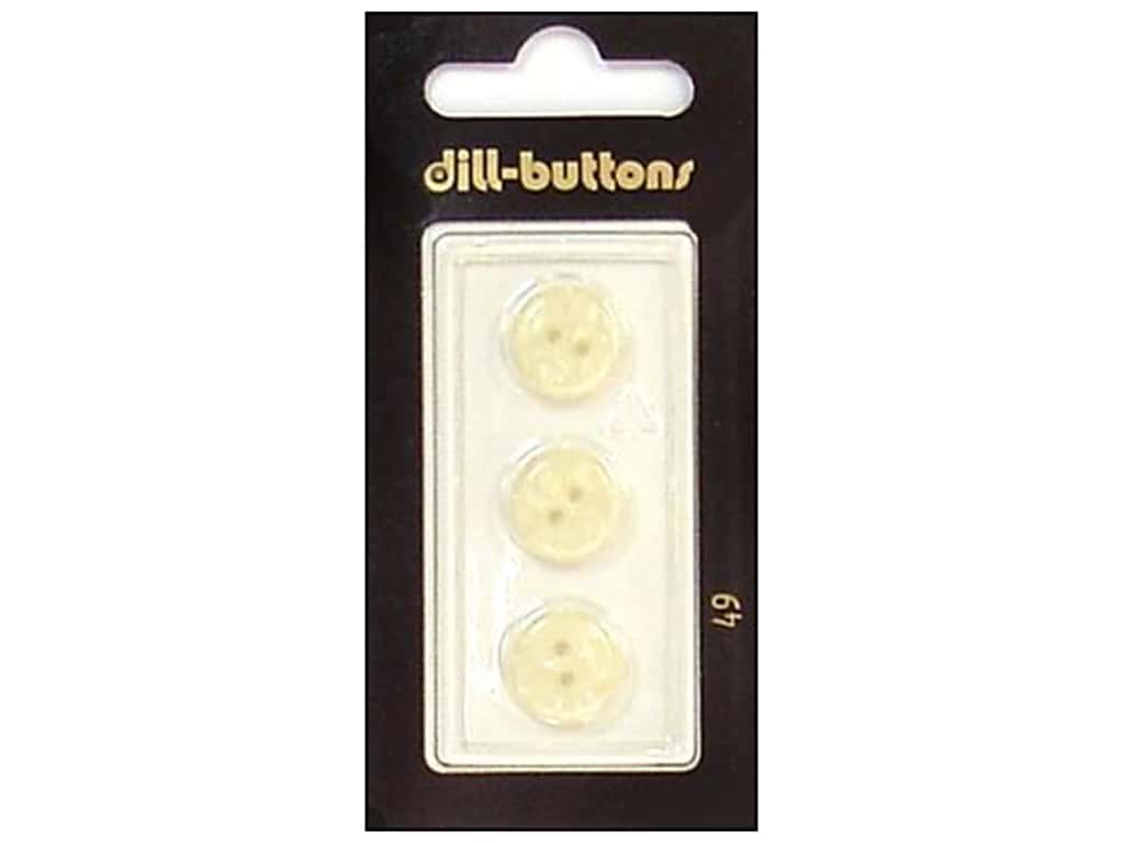 Dill 2 Hole Buttons 1/2 in. White #49 3 pc.