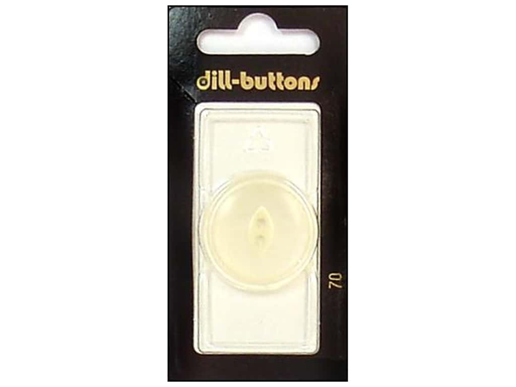 Dill 2 Hole Buttons 1 1/8 in. White #70 1 pc.