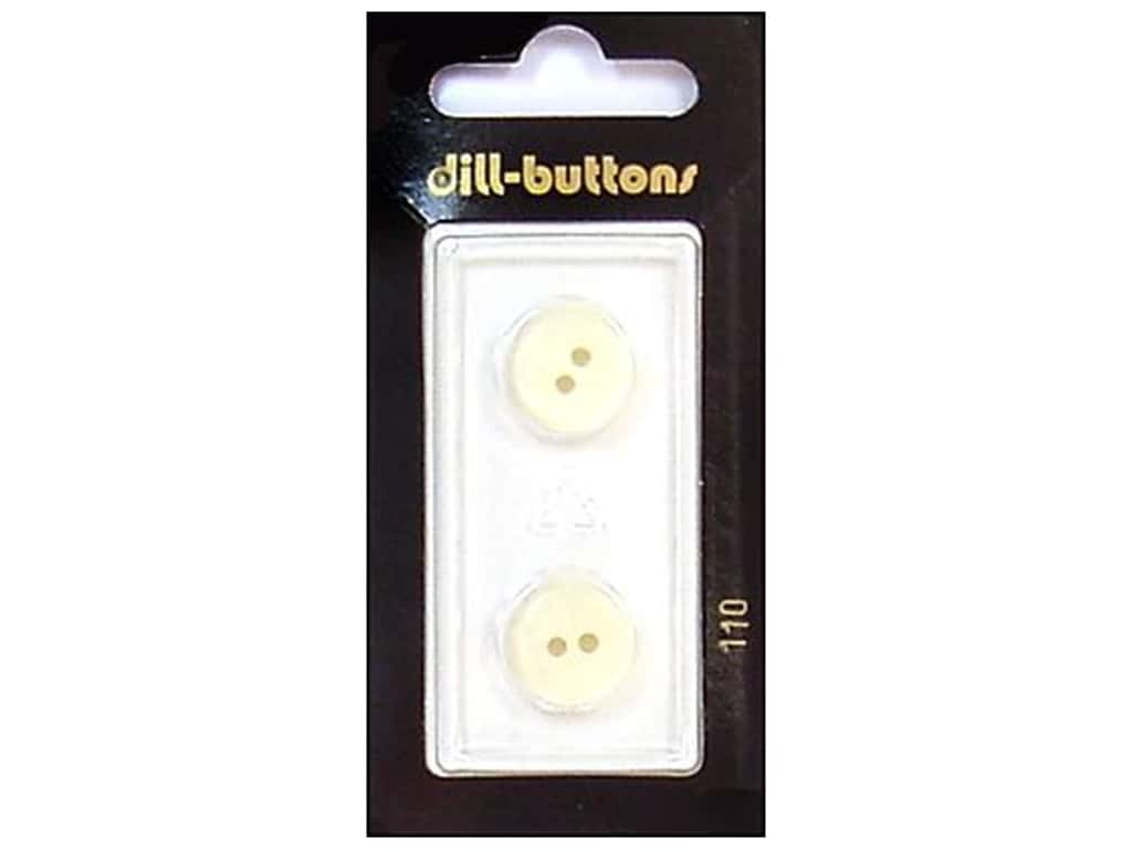 Dill 2 Hole Buttons 9/16 in. White #110 2 pc.