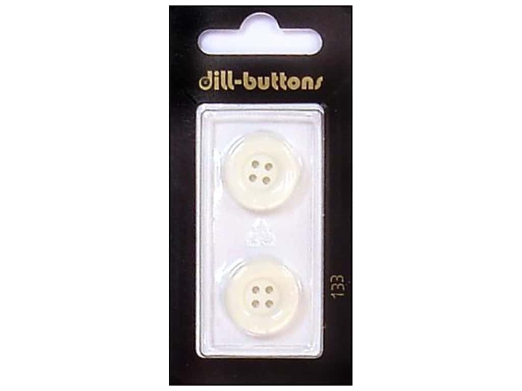 Dill 4 Hole Buttons 11/16 in. White #133 2 pc.