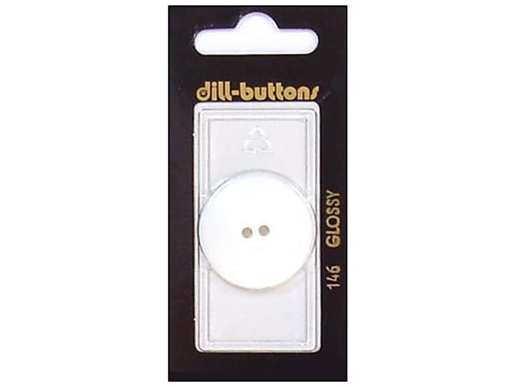 Dill 2 Hole Buttons 1 1/8 in. White #146 1 pc.