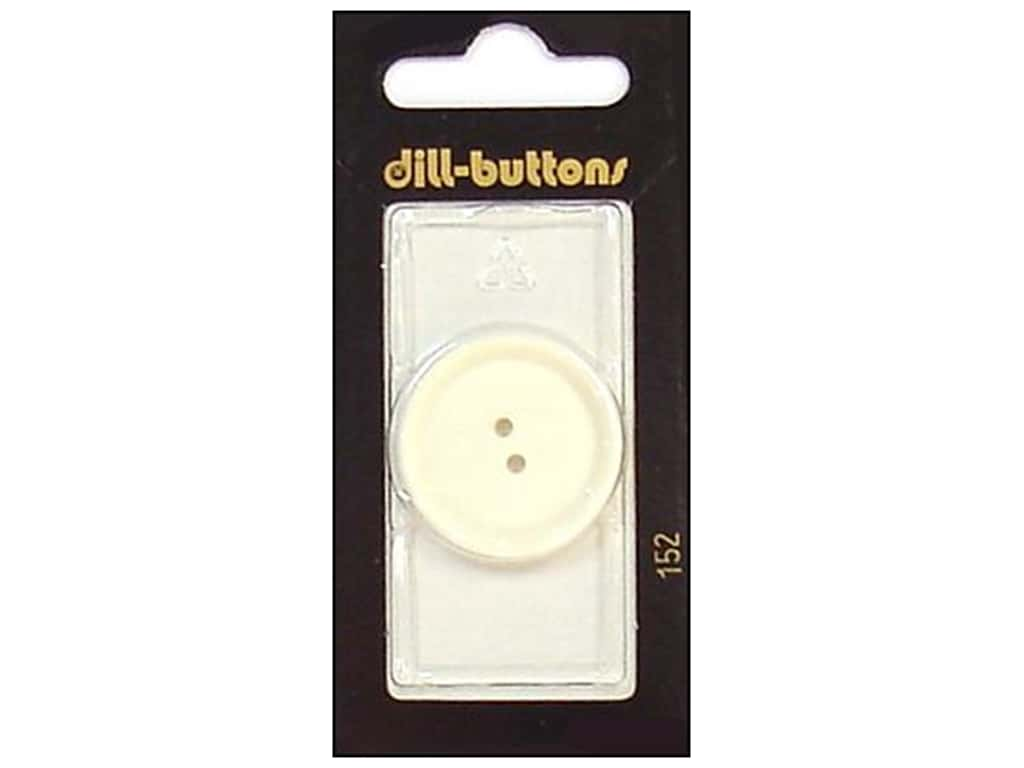 Dill 2 Hole Buttons 1 1/8 in. White #152 1 pc.