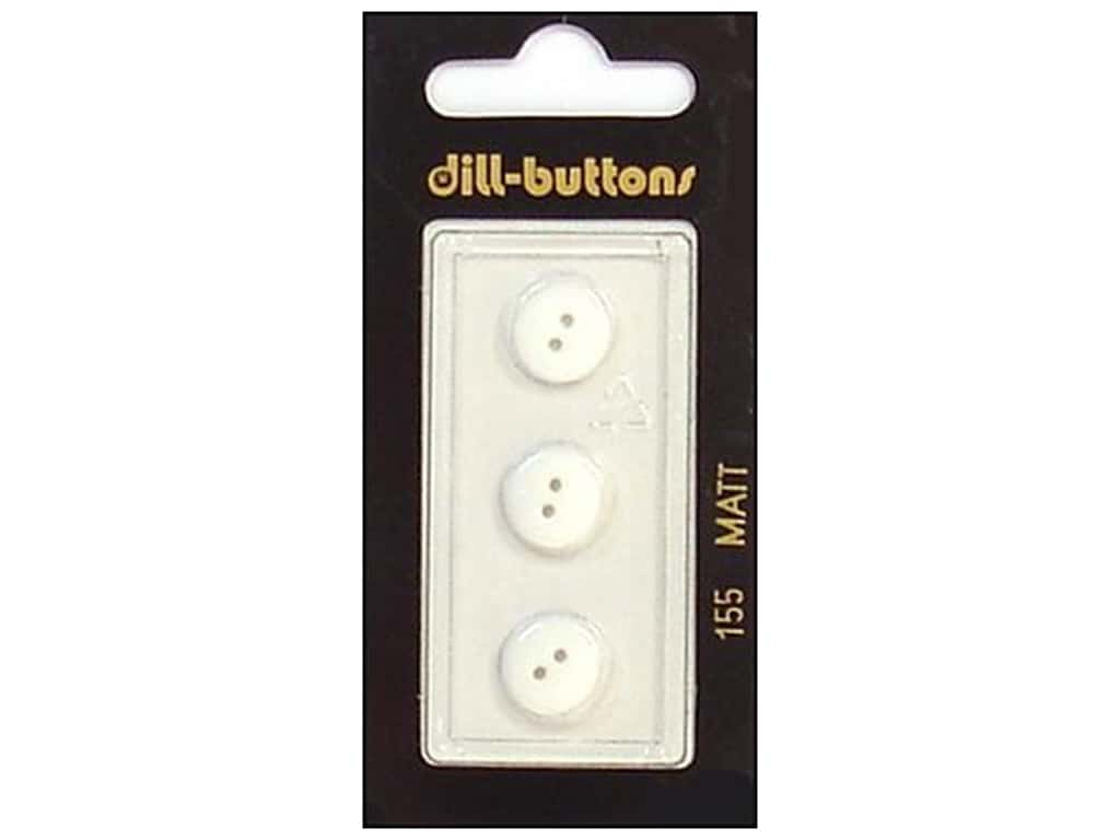 Dill 2 Hole Buttons 7/16 in. White #155 3 pc.