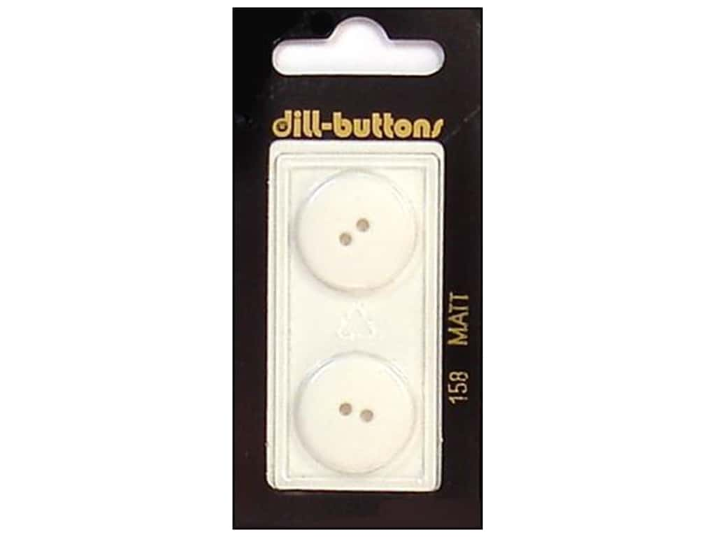 Dill 2 Hole Buttons 13/16 in. White #158 2 pc.