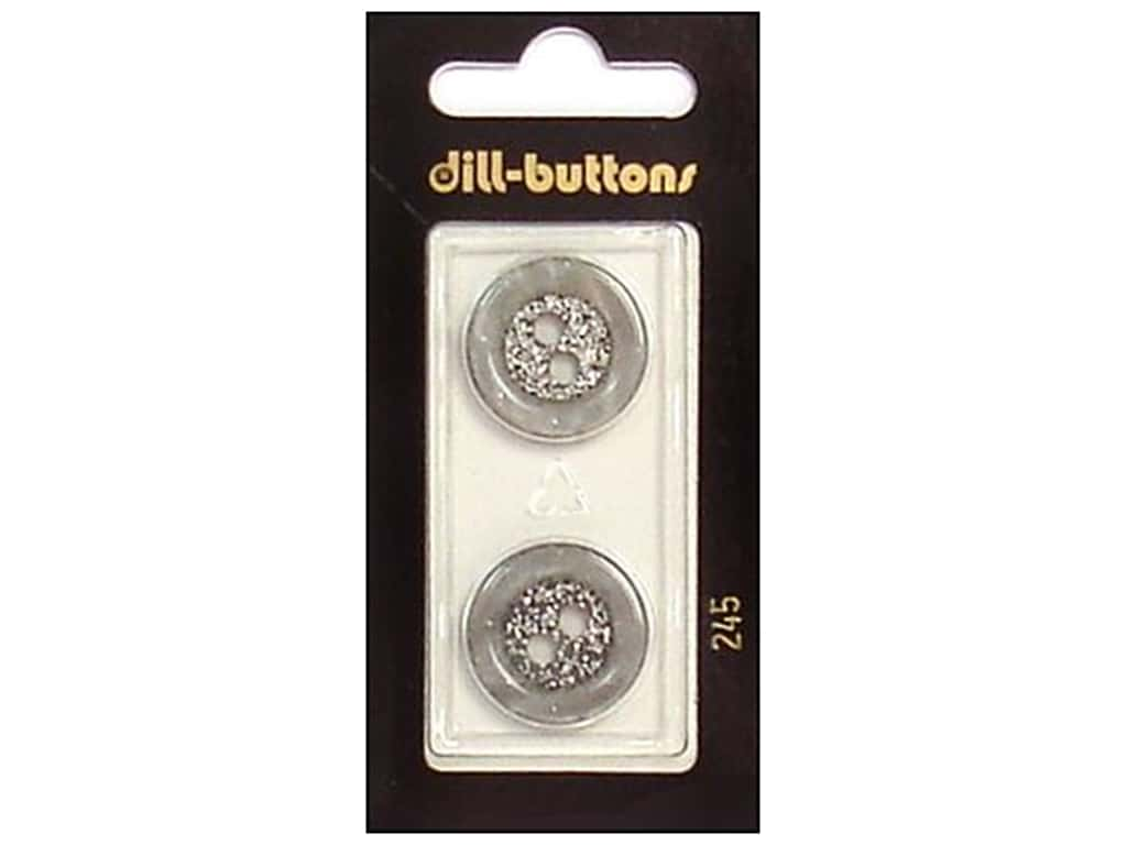 Dill 2 Hole Buttons 13/16 in. Grey #245 2 pc.