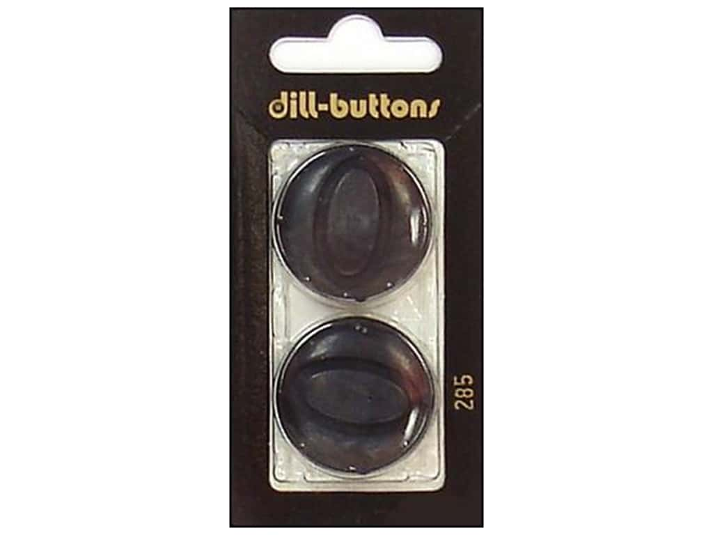 Dill Shank Buttons 1 1/8 in. Black #285 2 pc.
