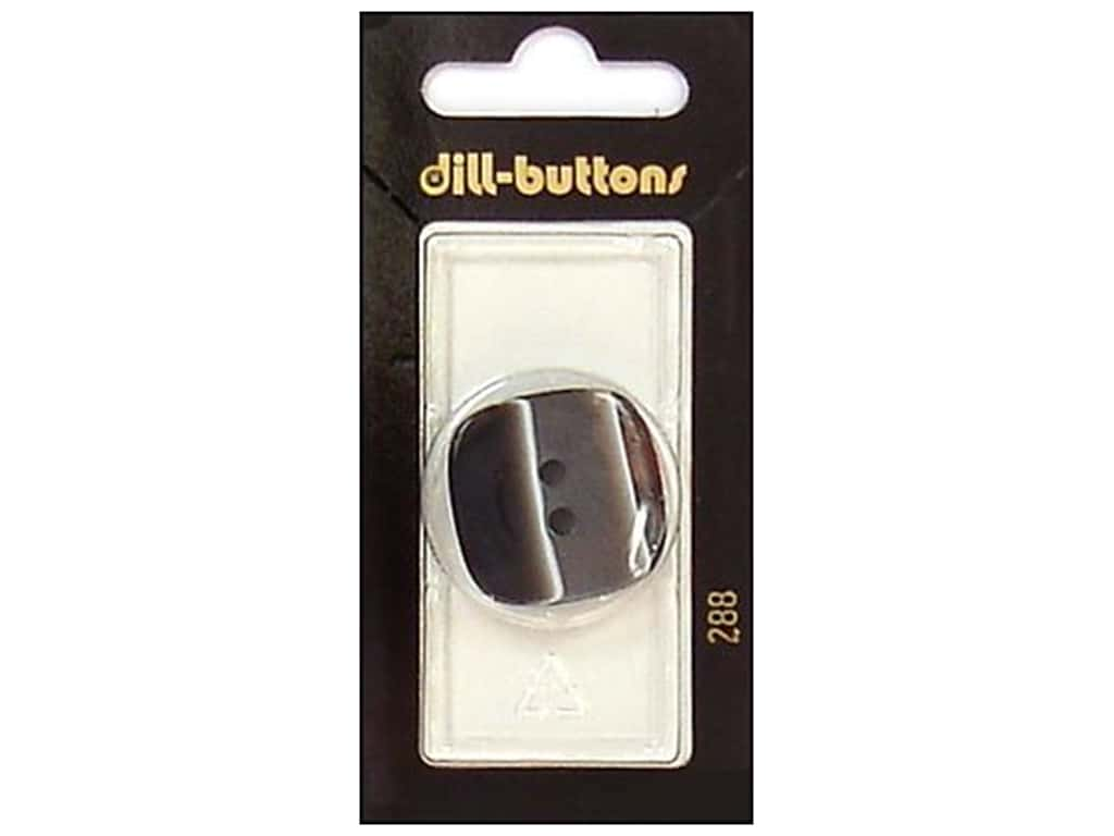 Dill 2 Hole Buttons 1 1/8 in. Black #288 1 pc.