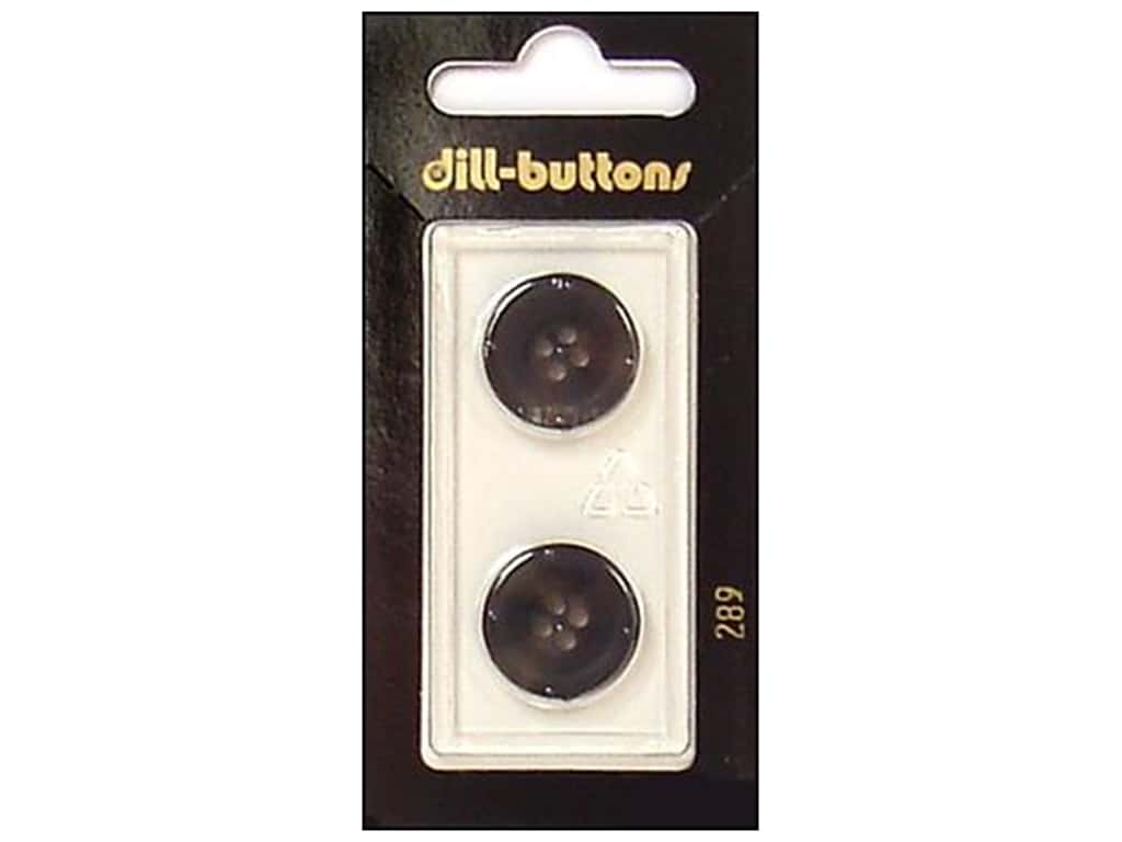 Dill 4 Hole Buttons 11/16 in. Grey #289 2 pc.