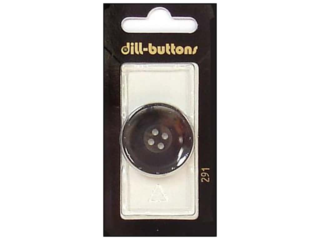Dill 4 Hole Buttons 1 1/8 in. Grey #291 1 pc.