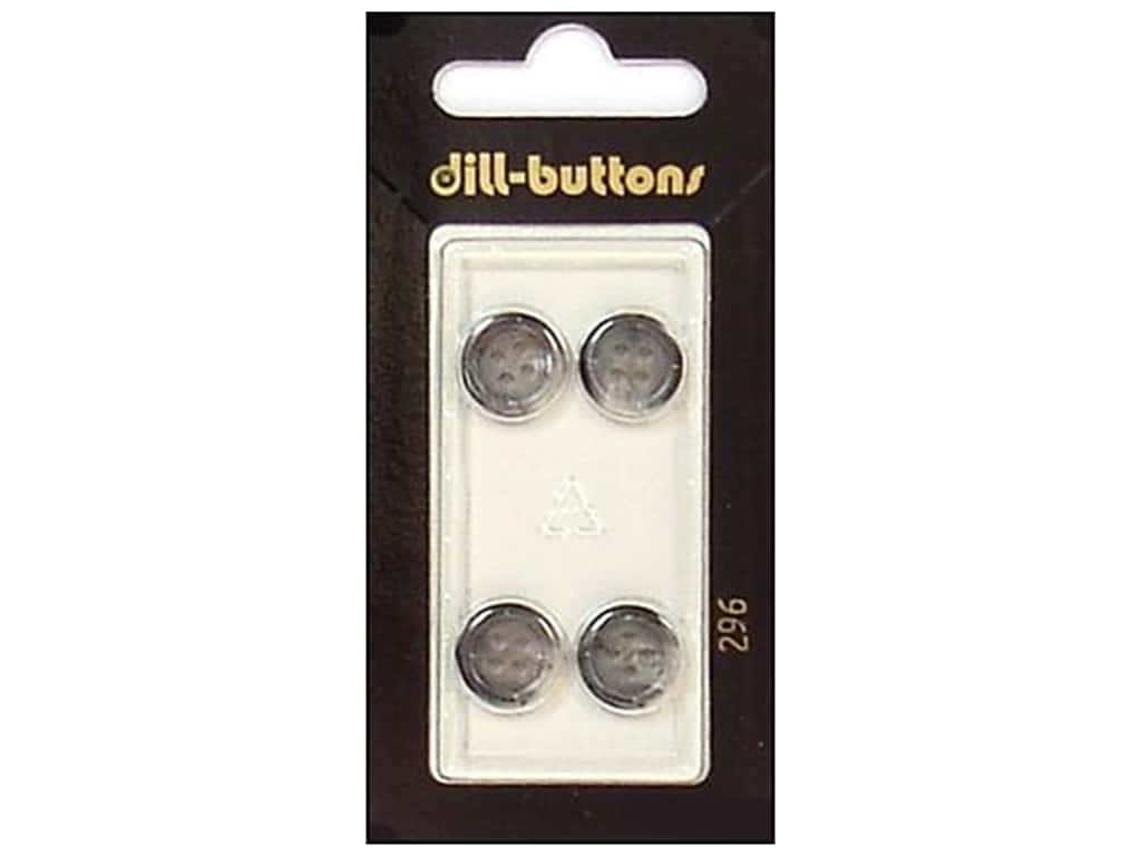 Dill 4 Hole Buttons 7/16 in. Grey #296 4 pc.