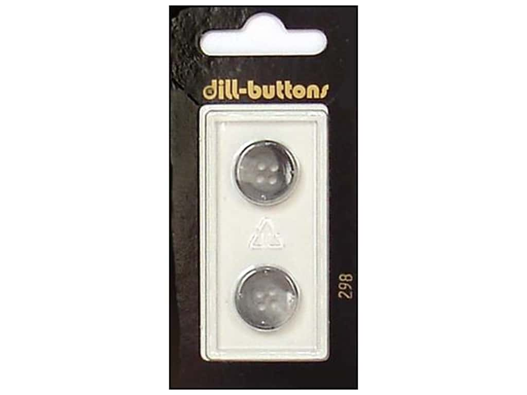 Dill 4 Hole Buttons 5/8 in. Grey #298 2 pc.