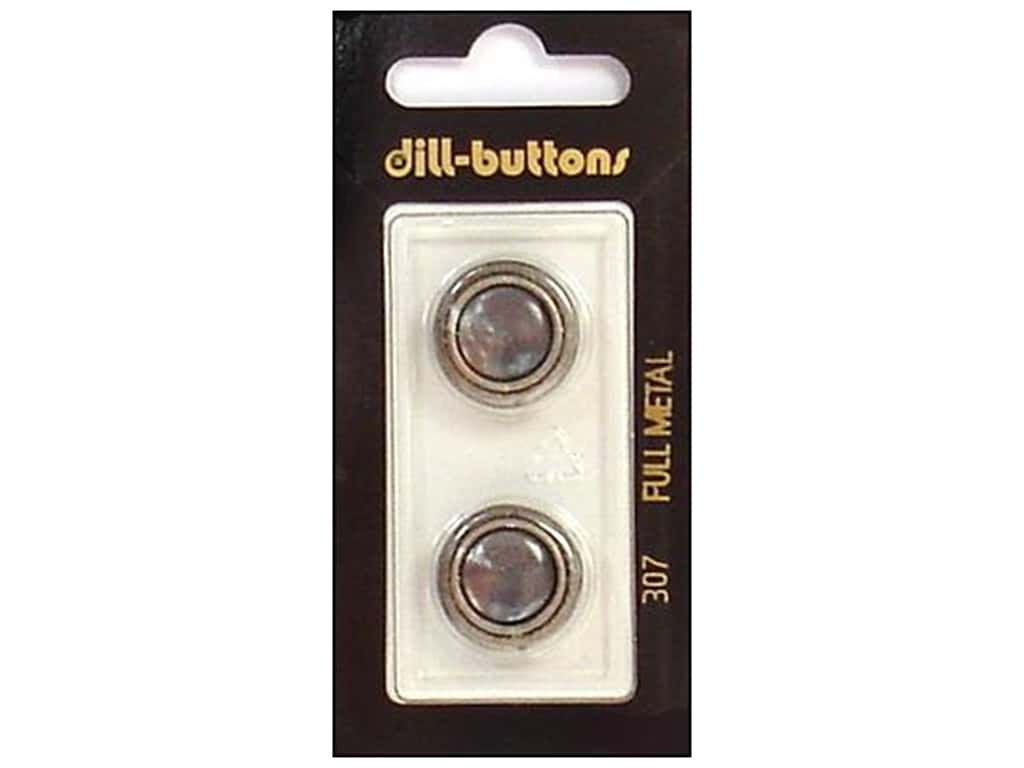 Dill Shank Buttons 11/16 in. Grey/Silver Metal #307 2 pc.