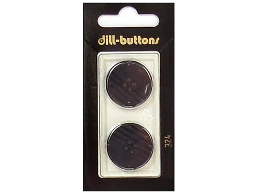 Dill 4 Hole Buttons 7/8 in. Black #324 2 pc.