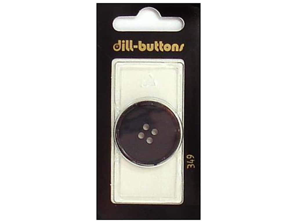 Dill 4 Hole Buttons 1 1/8 in. Black #349 1 pc.