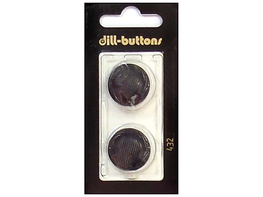 Dill Shank Buttons 7/8 in. Black #432 2 pc.