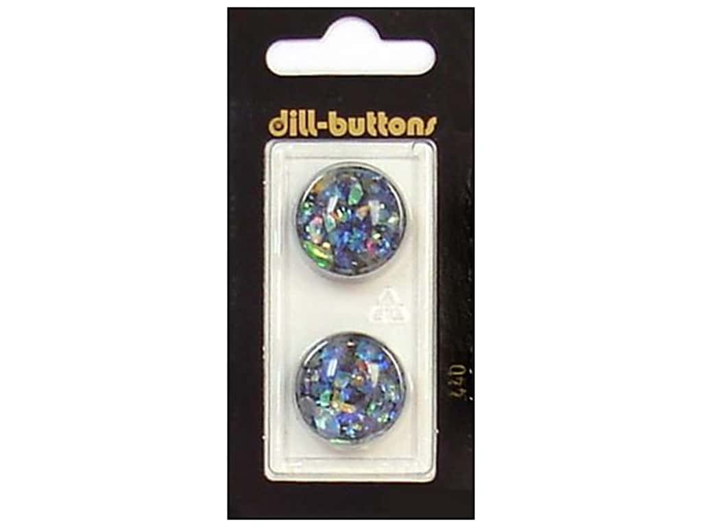 Dill Shank Buttons 13/16 in. Black/Confetti #440 2 pc.