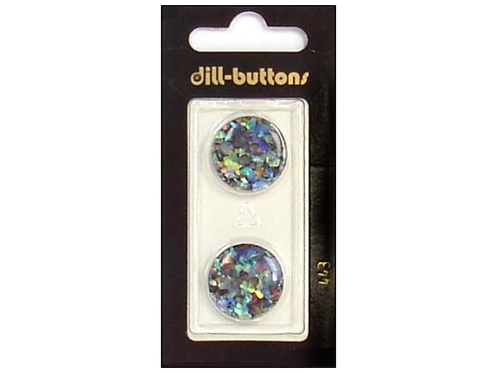 Dill 2 Hole Buttons 3/4 in. Black/Confetti #443 2 pc.