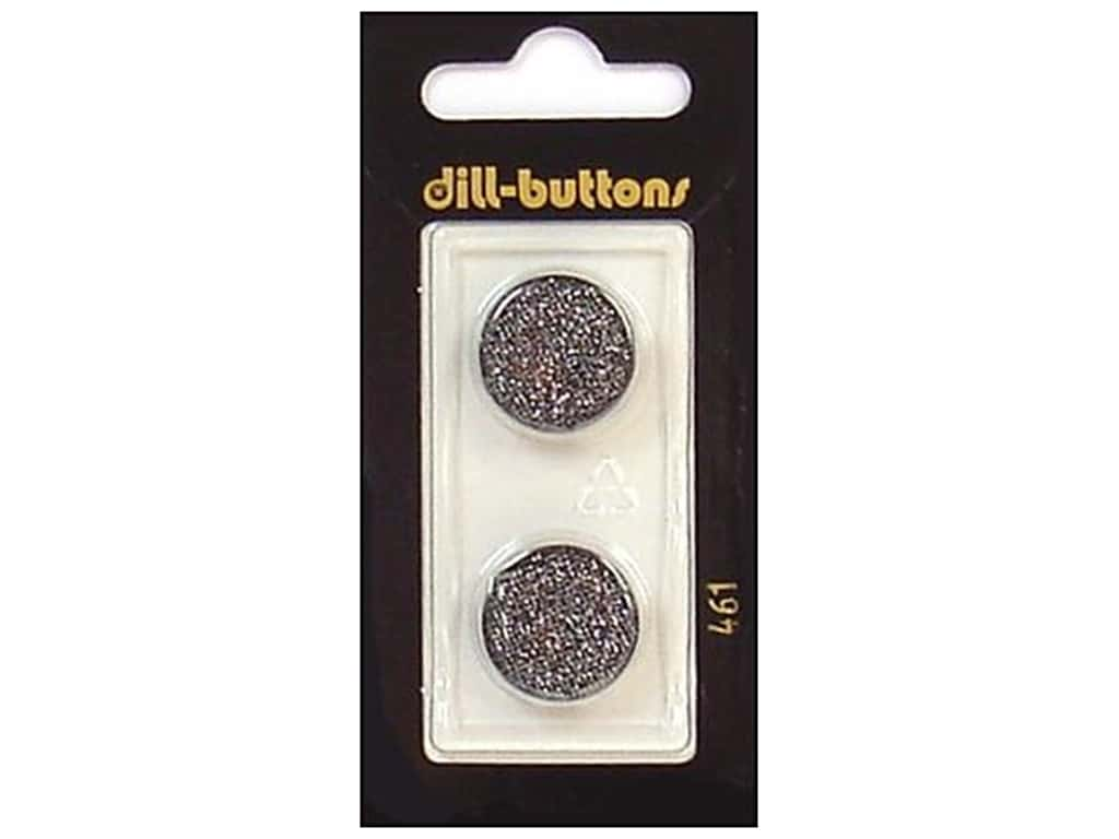 Dill Shank Buttons 11/16 in. Black #461 2 pc.